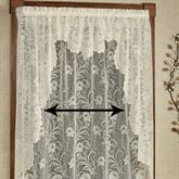 Art Nouveau Lace Long Swag Valance Pair 72 x 63