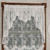 Art Nouveau Lace Swag Valance Pair 72 x 32