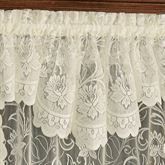 Art Nouveau Lace Tailored Valance 56 x 15