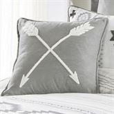 Free Spirit Hooked Arrow Pillow Gray 18 Square