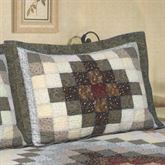 Sahara Patchwork Quilted Sham Charcoal Standard