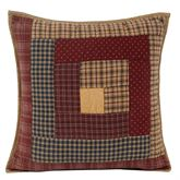 Millsboro Patchwork Quilted Pillow Multi Warm 16 Square