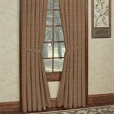 Millsboro Plaid Tailored Curtain Pair Multi Warm