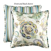 Eliza Reversible Piped Pillow Multi Cool 17 Square