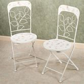 Abigails Garden Chair Pair Soft White Pair