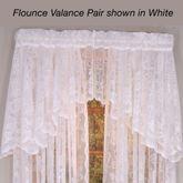 Rose Lace Flounce Valance Pair 55 x 13