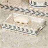 Ticking Stripe Soap Dish Beige