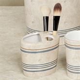 Ticking Stripe Brush Holder Beige