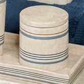Ticking Stripe Covered Jar Beige