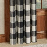 Checkerboard Grommet Curtain Panel