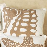Seahorse Embroidered Pillow White 18 Square
