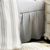 Blackberry Gathered Bedskirt Off White