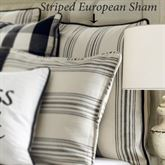 Blackberry Striped Sham Eggshell European