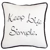 Blackberry Life Embroidered Pillow Off White 18 Square