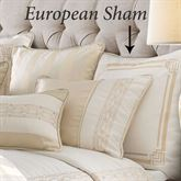 Hollywood Embroidered Sham Off White European