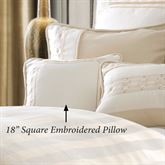 Hollywood Embroidered Pillow Off White 18 Square