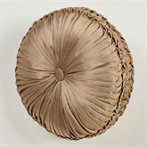 Camelot Tufted Pillow Almond Round