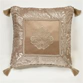 Camelot Embroidered Pillow Almond 18 Square