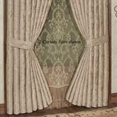 Camelot Tailored Curtain Pair Almond