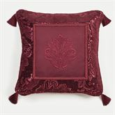 Camelot Embroidered Pillow Burgundy 18 Square