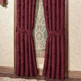 Camelot Tailored Curtain Pair Burgundy