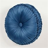 Camelot Tufted Pillow Navy Round