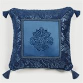 Camelot Embroidered Pillow Navy 18 Square
