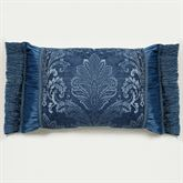 Camelot Fringed Pillow Navy Rectangle