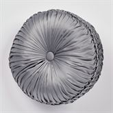 Camelot Tufted Pillow Gray Round
