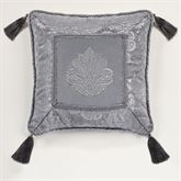 Camelot Embroidered Pillow Gray 18 Square