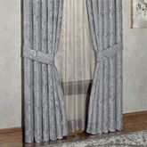 Camelot Tailored Curtain Pair Gray