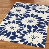 Garden Canvas Rectangle Rug Royal Blue