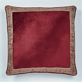 Courtland Piped European Sham Only Cordovan