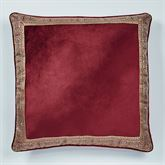 Courtland European Pillow with Sham Cordovan