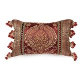 Courtland Bead Fringe Pillow Cordovan Rectangle