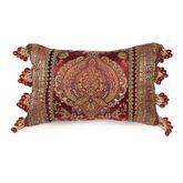Courtland Bead Fringe Pillow Cordovan Rectangle