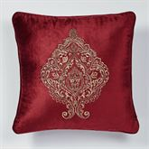 Courtland Embroidered Pillow Cordovan 20 Square