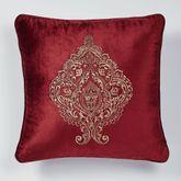 Courtland Embroidered Pillow Cordovan 20 Square