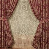 Courtland Wide Tailored Curtain Pair Cordovan