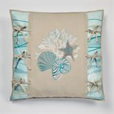Seaview II Embroidered European Sham Only Sand