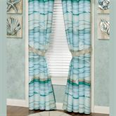 Seaview II Tailored Curtain Pair Light Blue