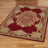 Belmont Rectangle Rug Ruby