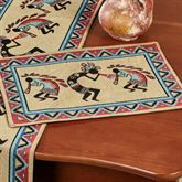 Kokopellis Southwest Placemats Multi Warm Set of Four
