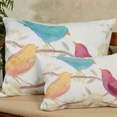 Bird Song Large Pillow Multi Pastel 24 x 18