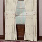 Bella Rose Tailored Curtain Pair