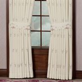 Bella Rose Tailored Curtain Pair