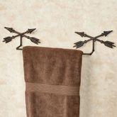 Arrow Towel Bar Aged Copper