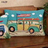 Going Places Beach Wagon Accent Pillow Multi Bright 14 x 20