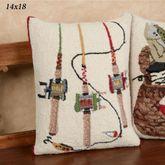 Fishing Rods Rectangle Decorative Pillow Multi Warm 14 x 18