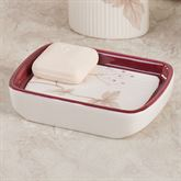 Christina Red Soap Dish Ivory